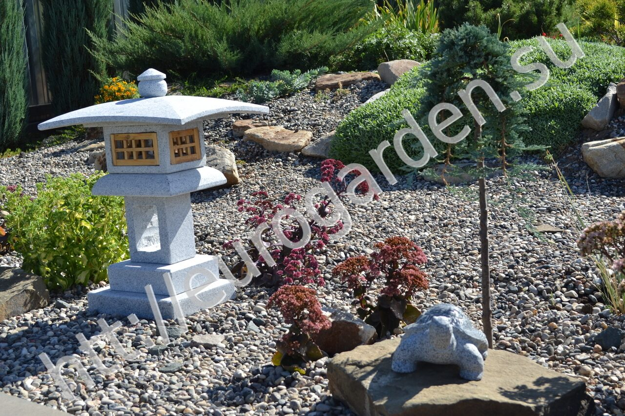 Каменный японский фонарь своими руками 32